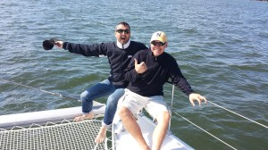 Joe & Griff aboard Toucan