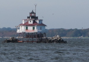 the famous Thomas Point Lighthouse on Chesapeake Bay