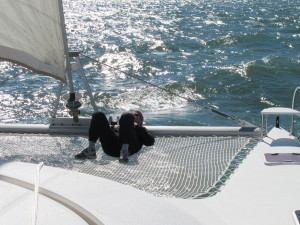 Having a little rest after all that reefing!