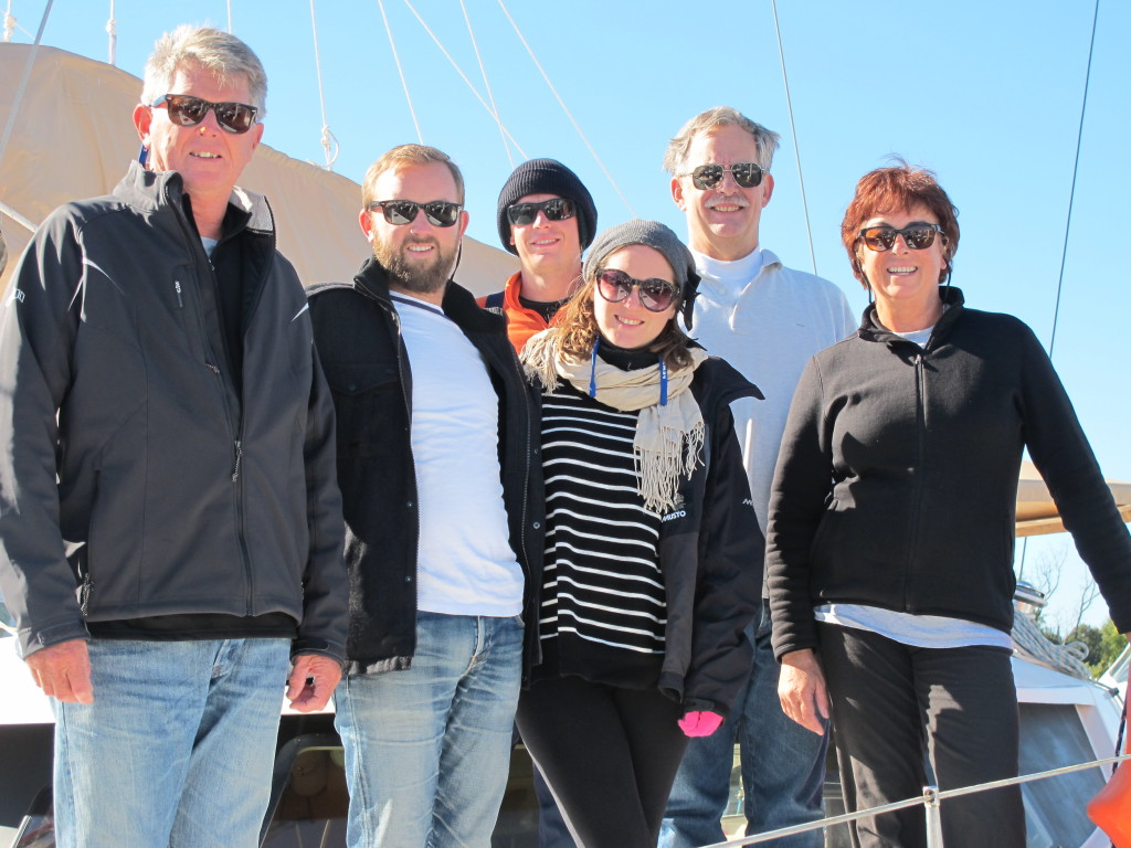Team Toucan for the Salty Dawg Rally. Bruce, Rob, Brendan, Alley, Jon & Di