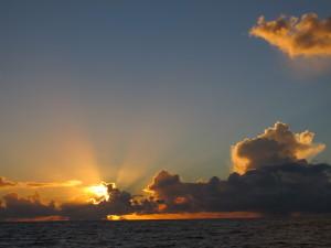 One of many beautiful sunrises and sunsets on passage