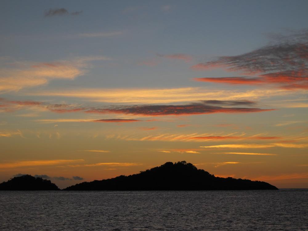 Pigeon Island at sunset
