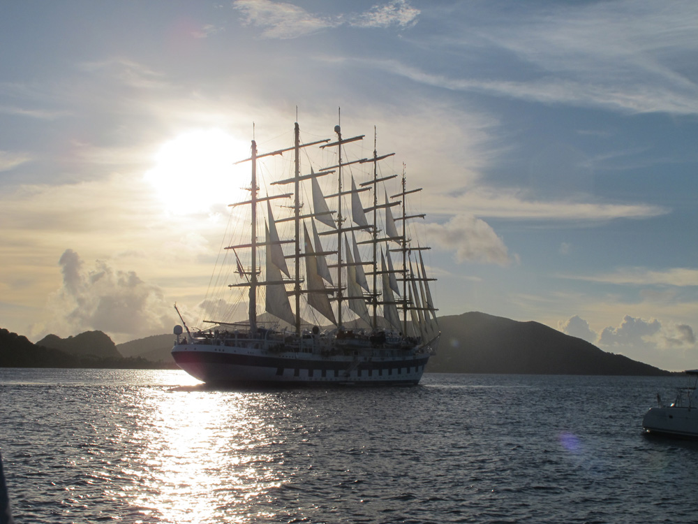 The clipper ships are much more pleasant on the eye than the cruise liners