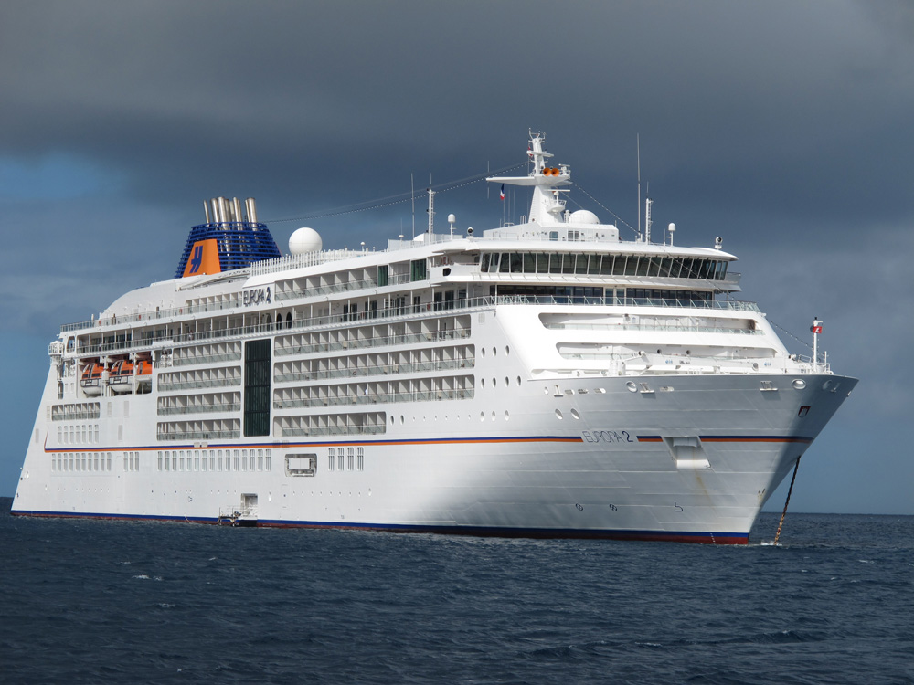 one of the many cruise ships in the Caribbean