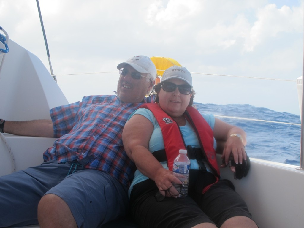 Ron & Jackie on passage to St Lucia