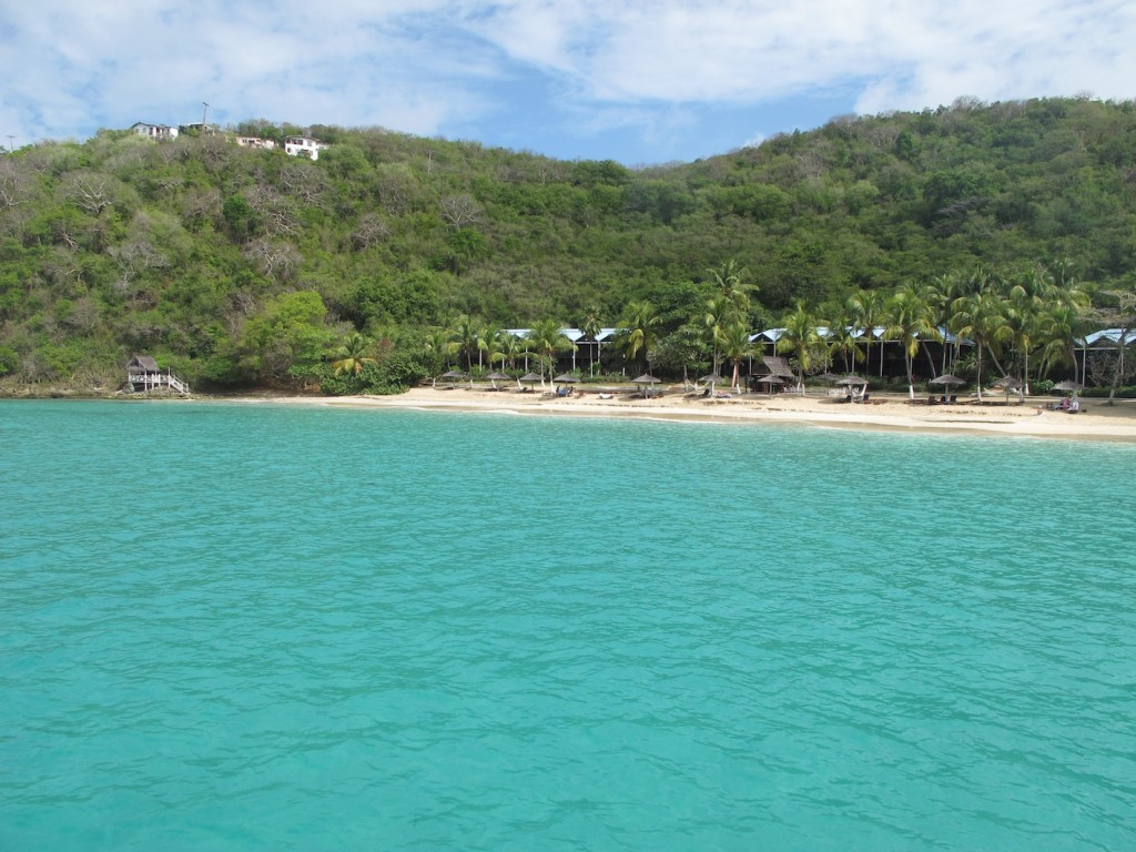 The anchorage off Tamarind Beach Hotel, Canouan