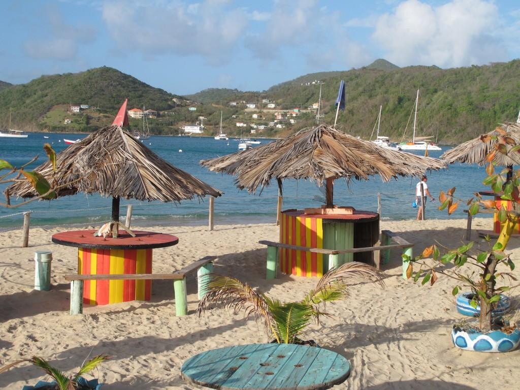 The Coconut beach bar, Canouan