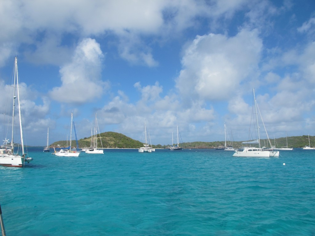 Another shot of the anchorage at Tobago Cays