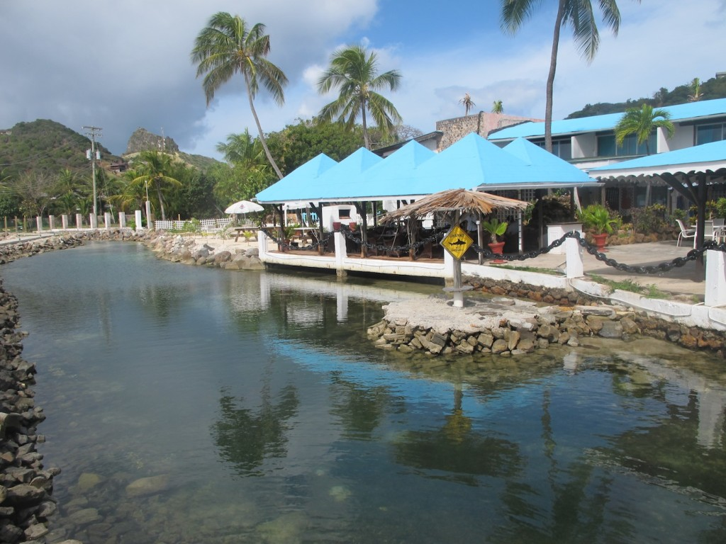 The Anchorage Hotel waterfront, Union Island