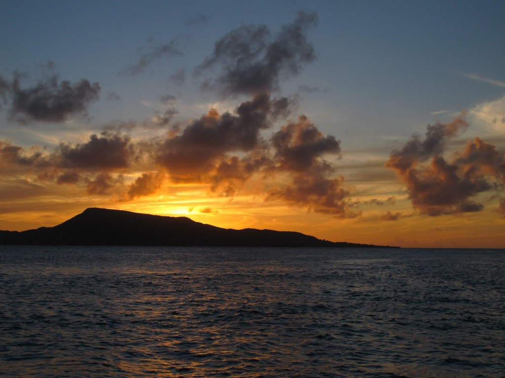 Sunset at Petit St Vincent
