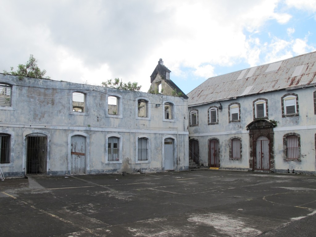 The courtyard at Fort George
