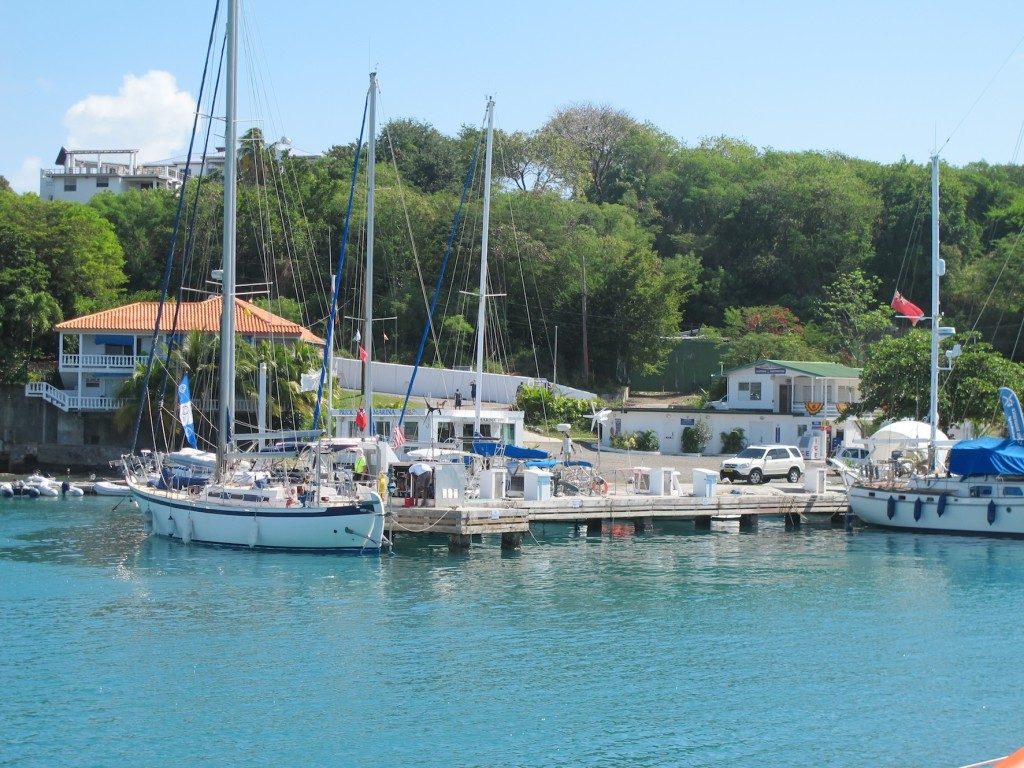 Prickly Bay marina, where we refuelled for our passage to Bonaire