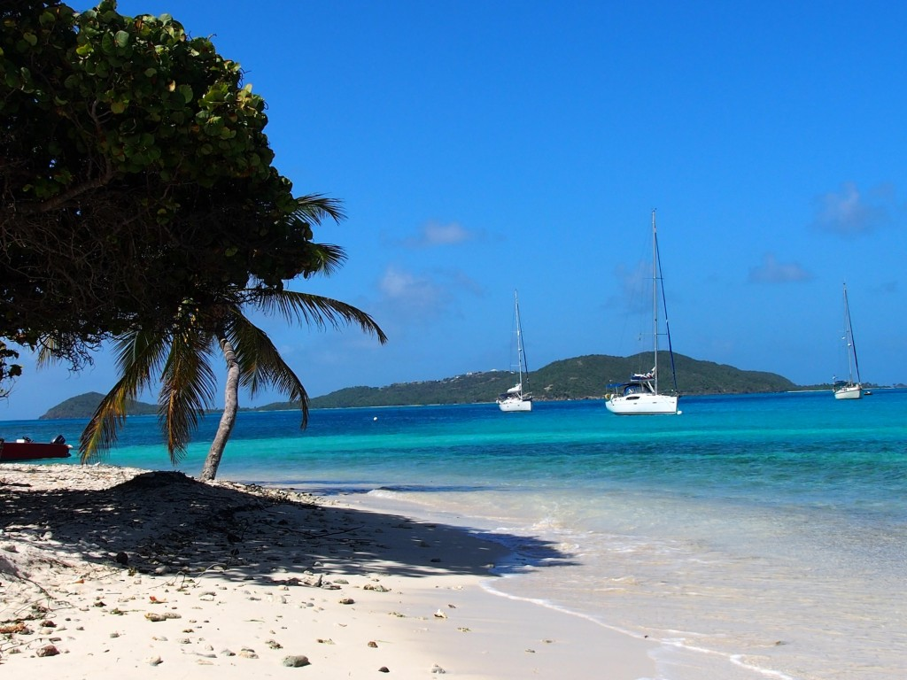 The enticing blue waters of Tobago Cays