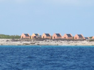 The slave huts on south Bonaire