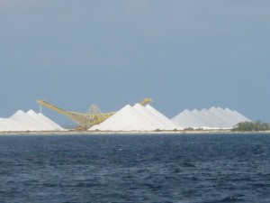 Salt-mining on the south side of Bonaire