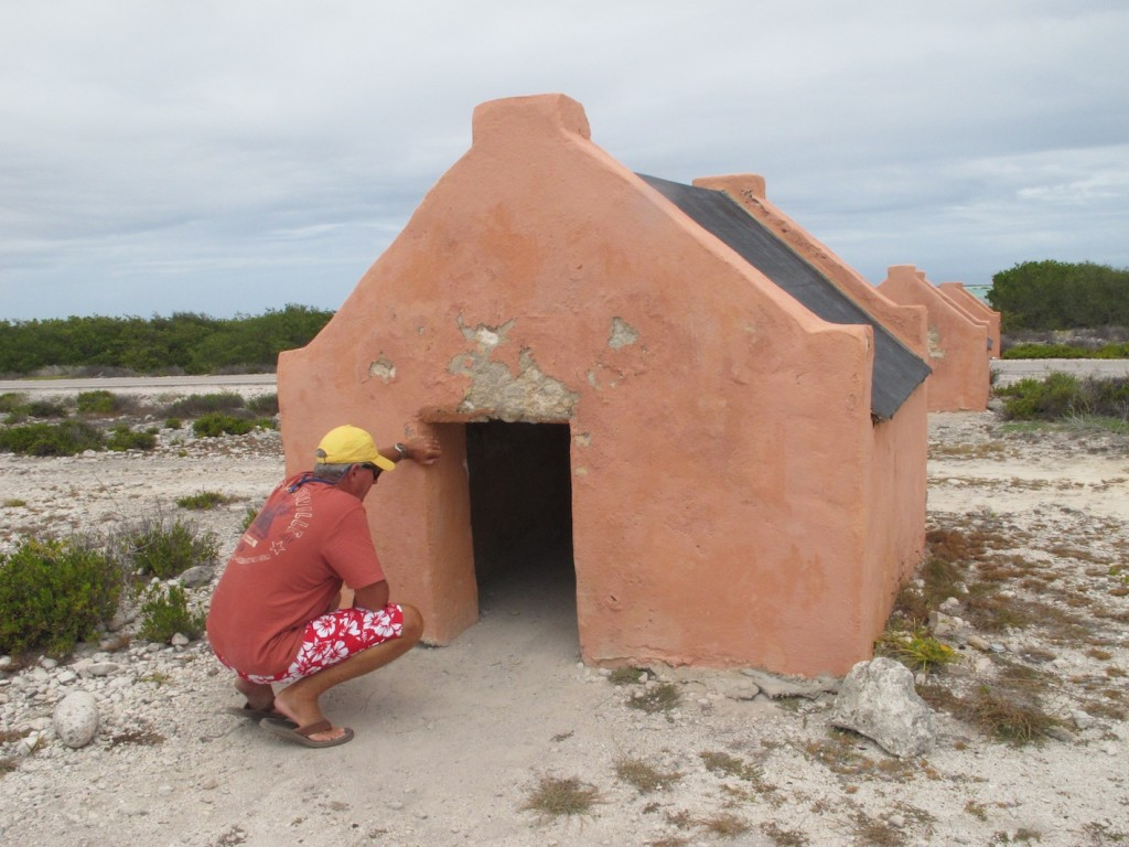 The tiny slave huts, Oranje Pan, Bonaire
