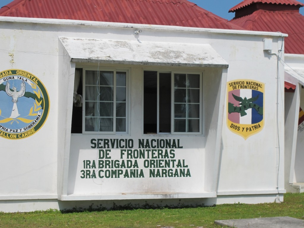 The customs, immigration and Guna Congress headquarters on El Porvenir