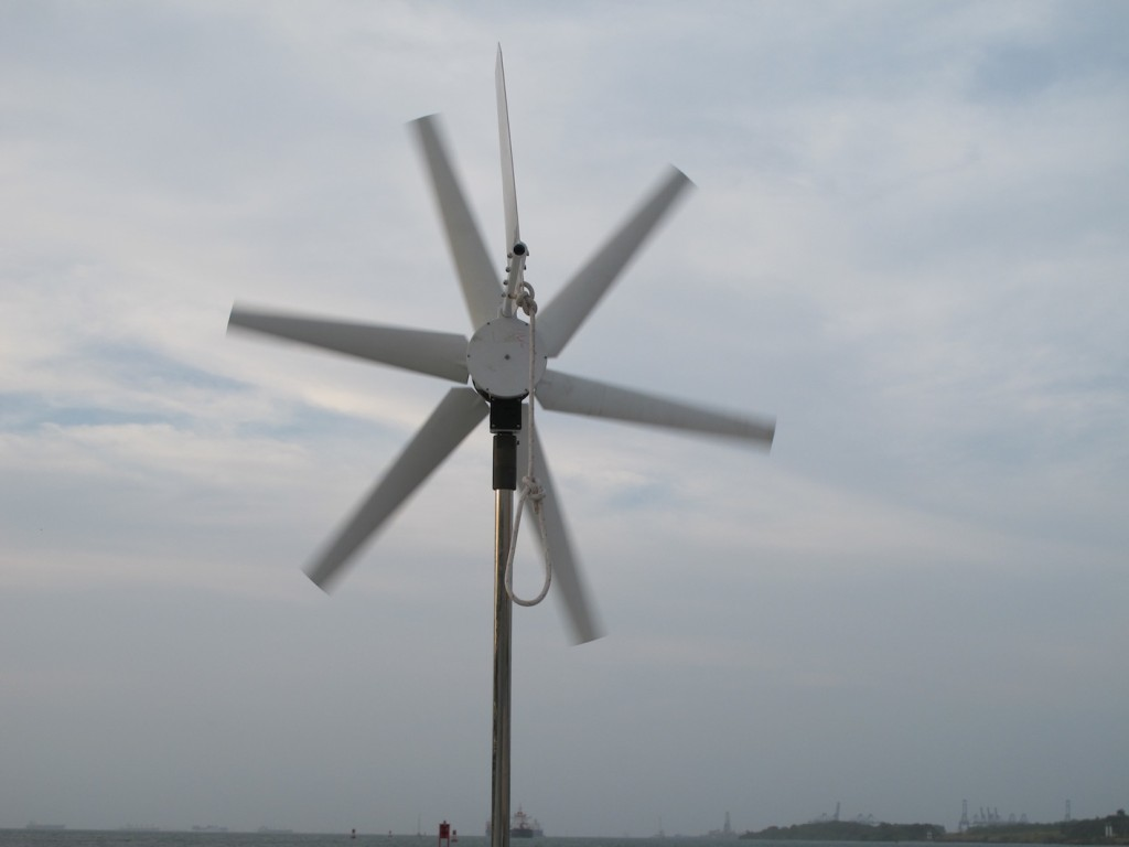 Finally - the wind generator is mounted and working!