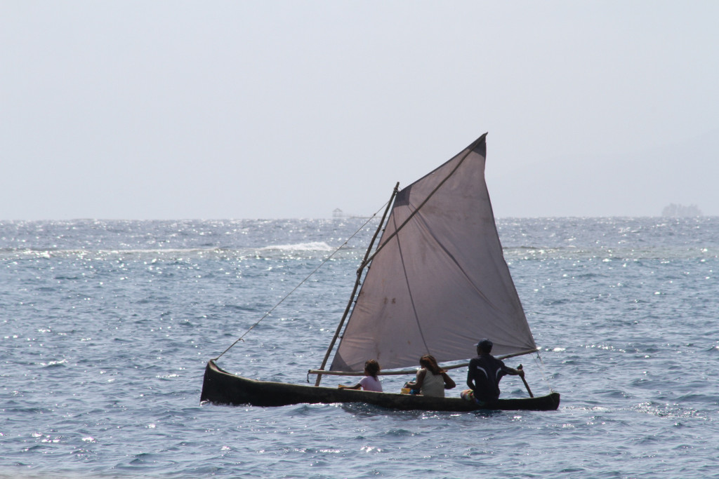 Hector and family sailing their ulu