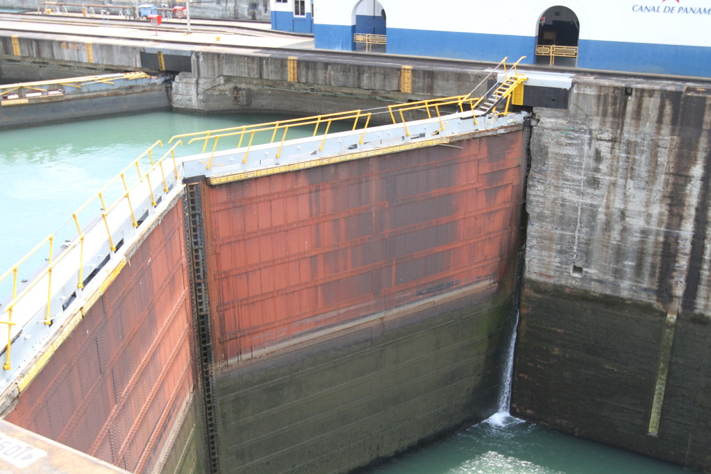 The Gatun Lock gates. Quite a size!