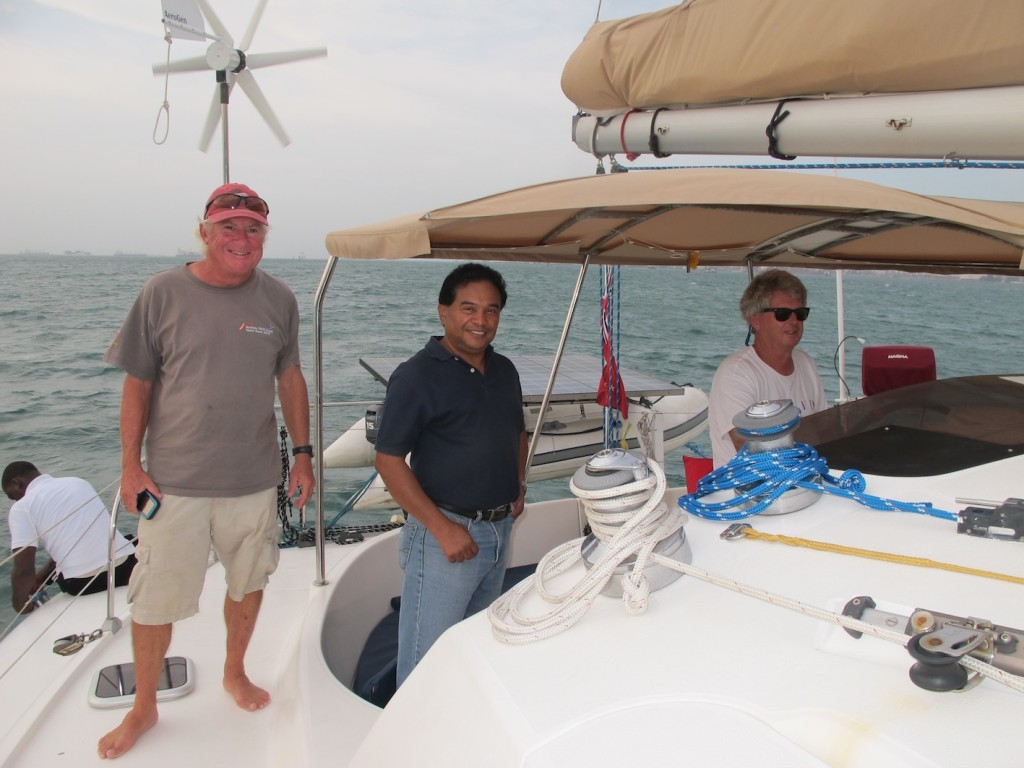 Carlos, our friendly Advisor with the skipper and Geoff