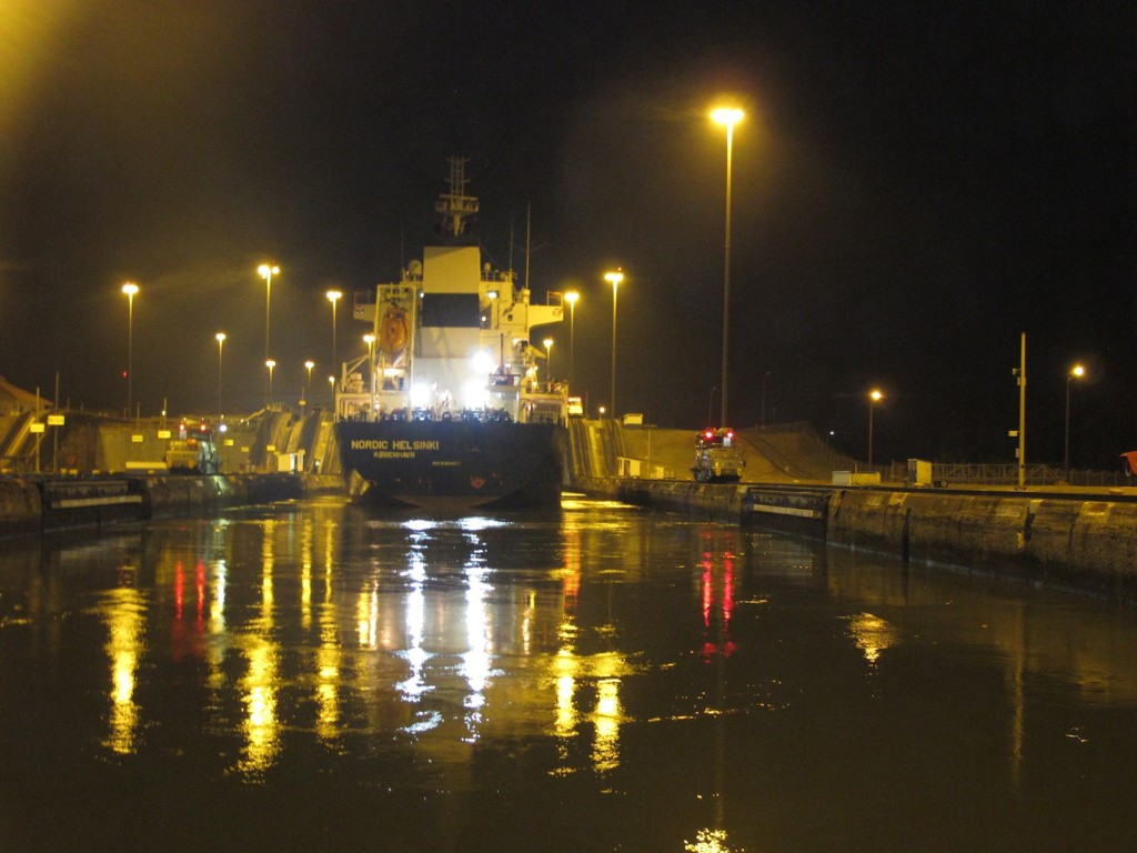 At the top of the lock