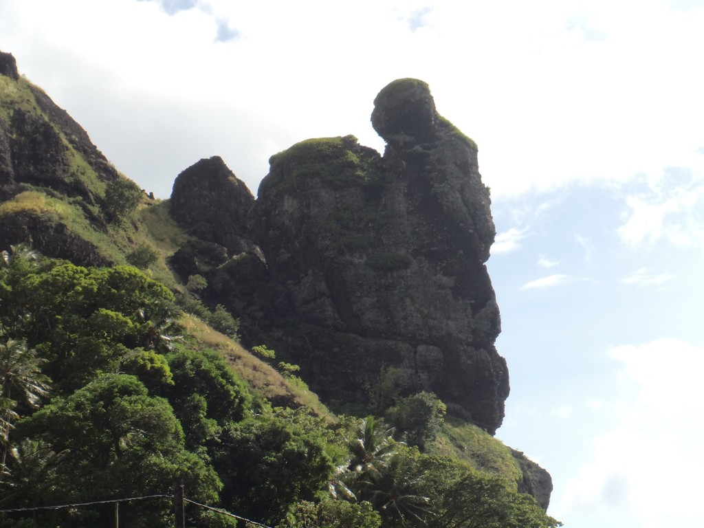 and here's King Kong clinging to the rock