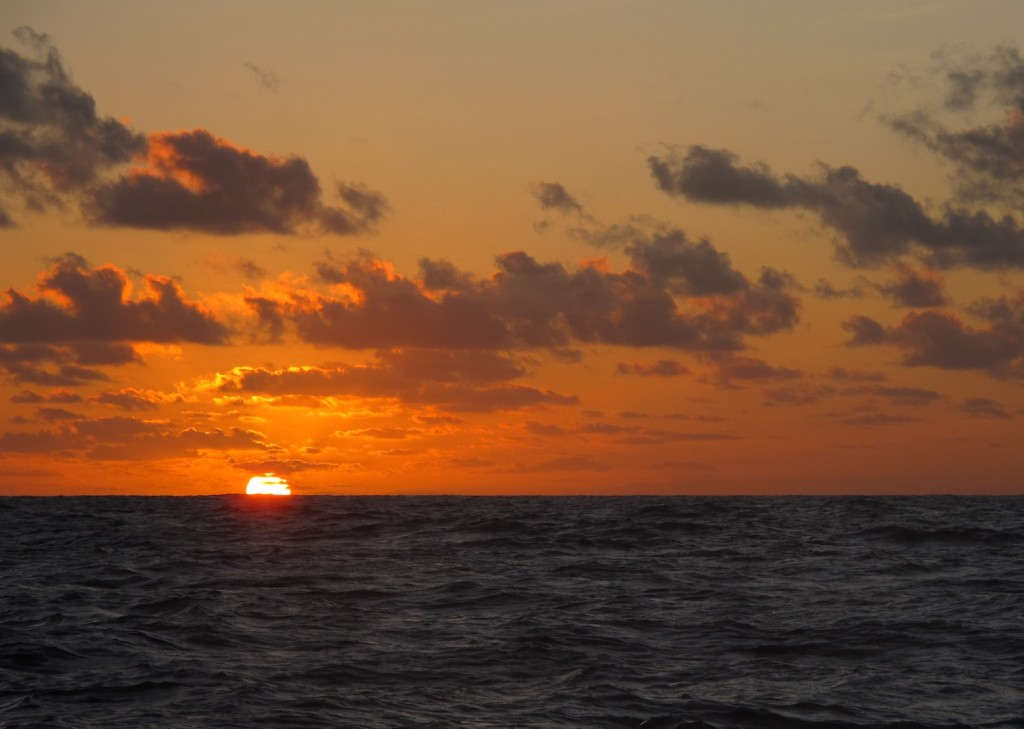 sunset on the ocean, a special time of day