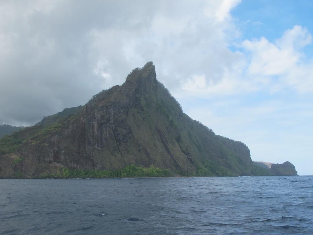 The volcanic cliffs of Fatu Hiva