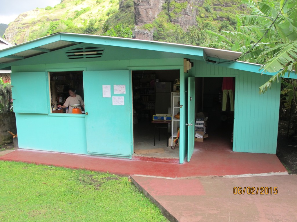 The one and only shop on Fatu Hiva