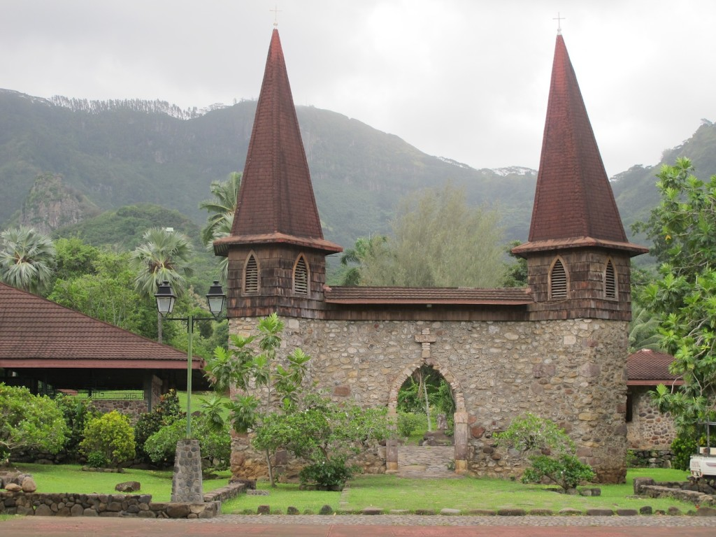the entrance to the cathedral, Nuku Hiva