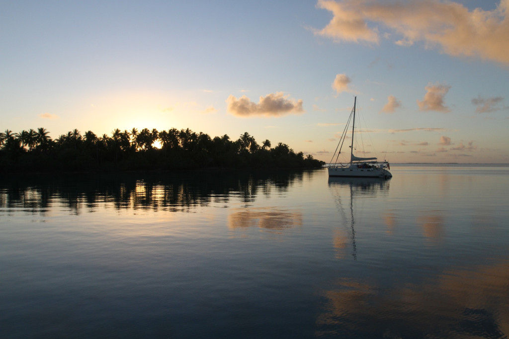 Our first anchorage in Tahanea - not a bad spot!