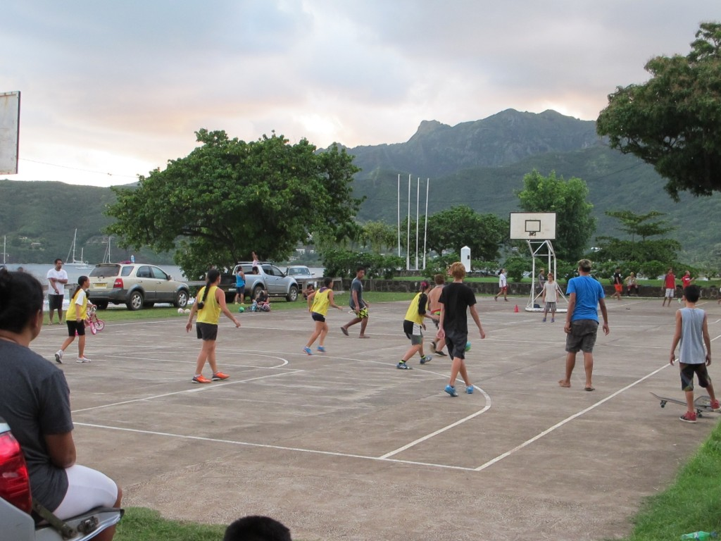 The locals enjoying 5-a-side soccer, Nuku Hiva