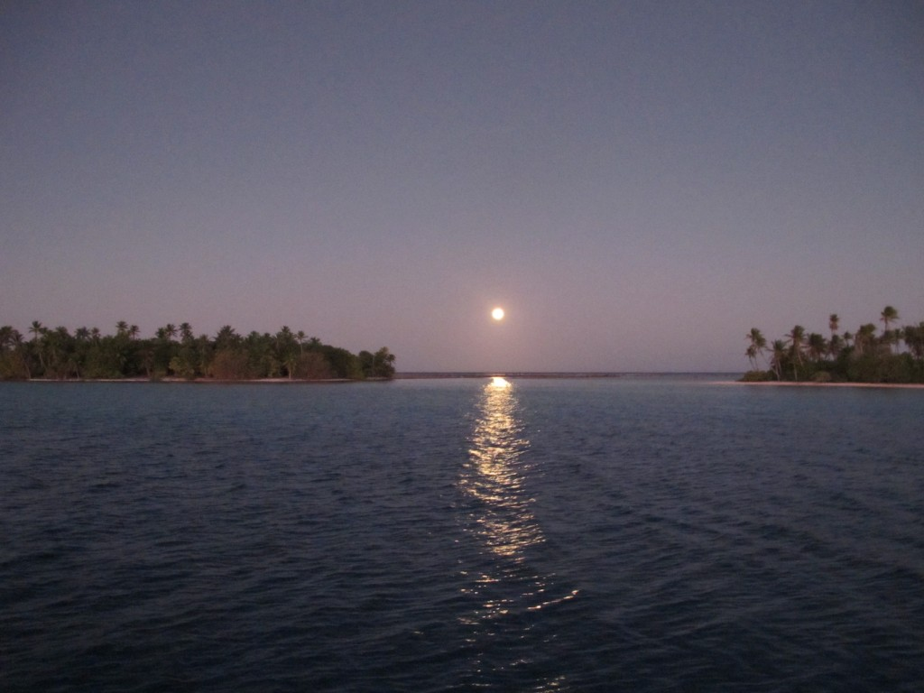 Full moon rising over Raroia