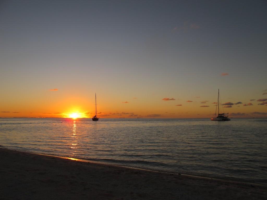 sunset over Raroia