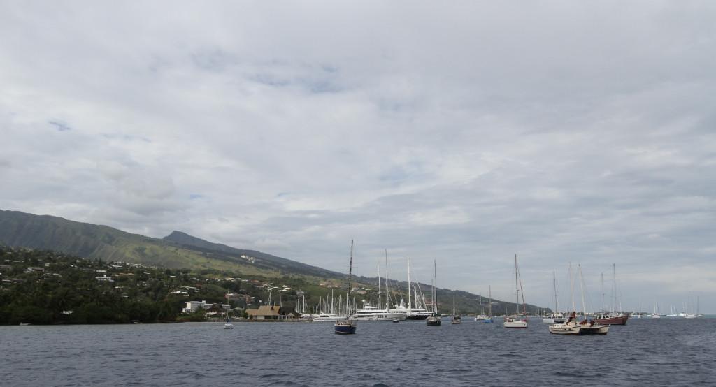 the anchorage off Marina Taina
