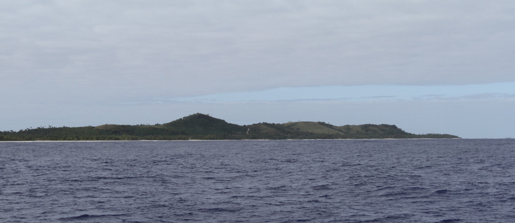 Approaching Aitutaki, Cook Islands