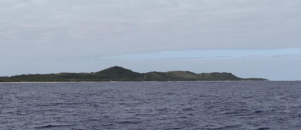 Approaching Aitutaki, Cook Islands