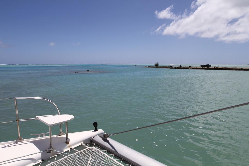 At anchor in Arutanga Harbour, Aitutaki