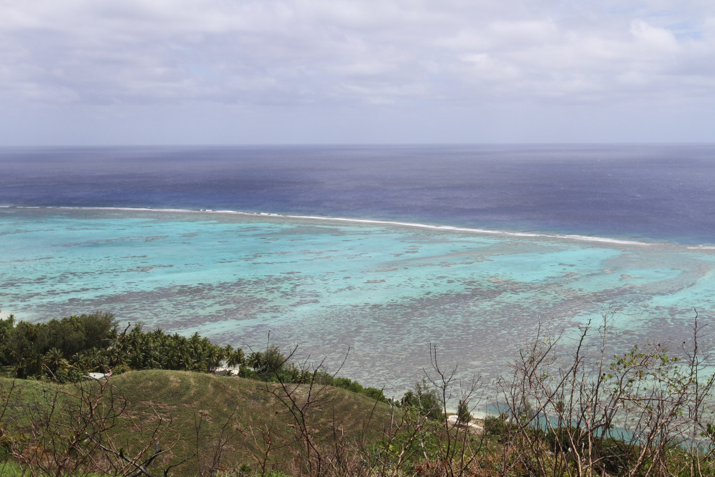 The view of the lagoon from the lookout. It's very shallow!