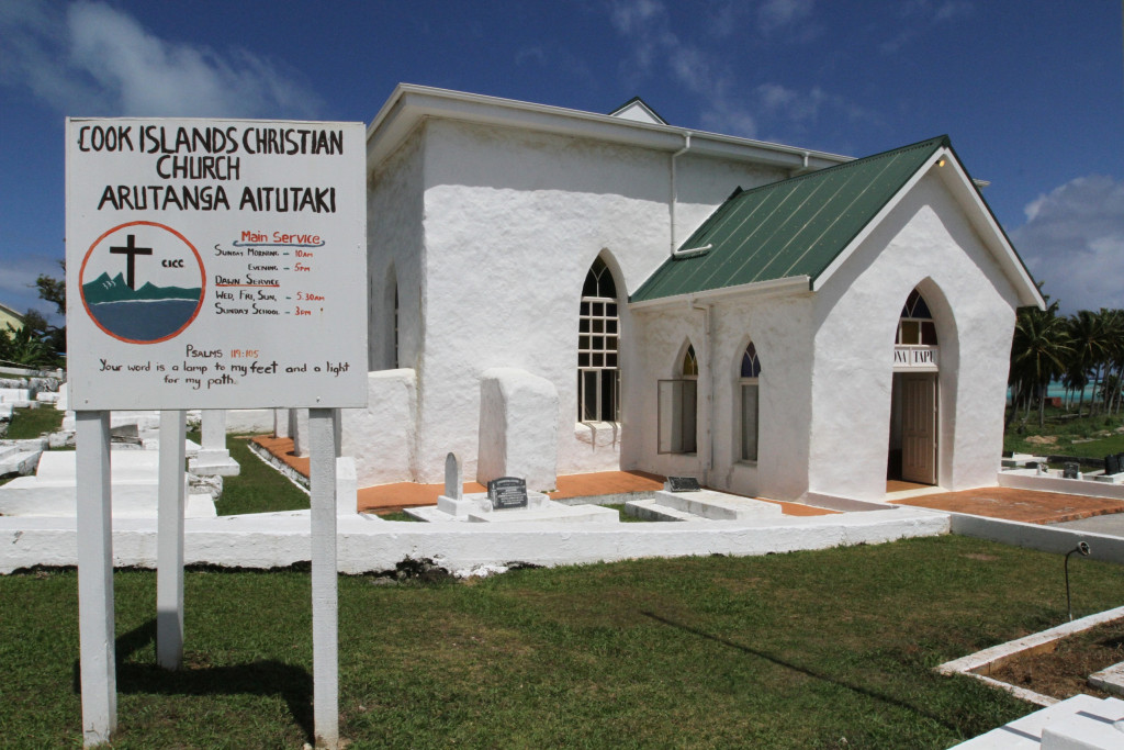 time for church - the Cook Island's first church built in 1821