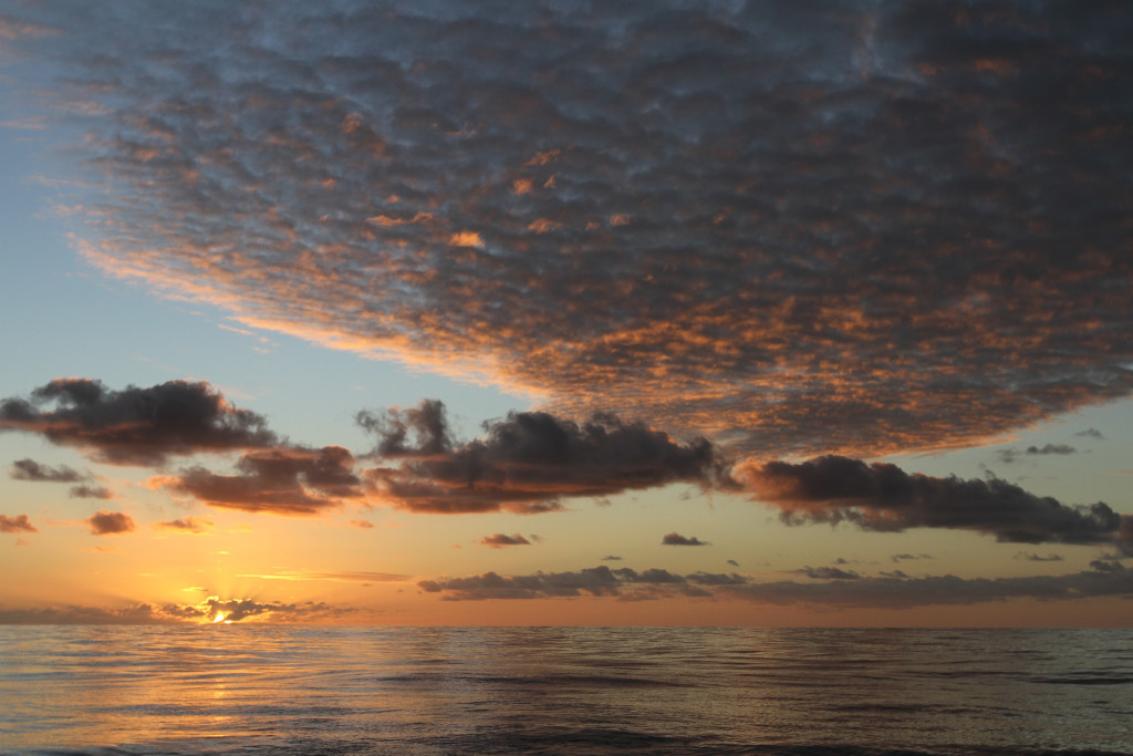 Sunrise on the way to Niue