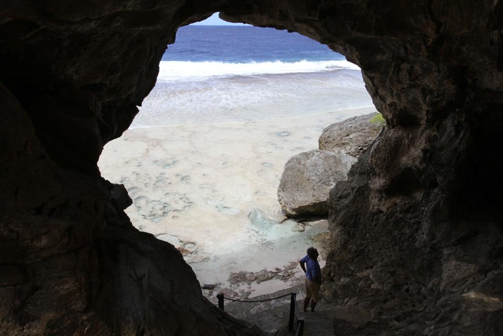 Liku cave and beach