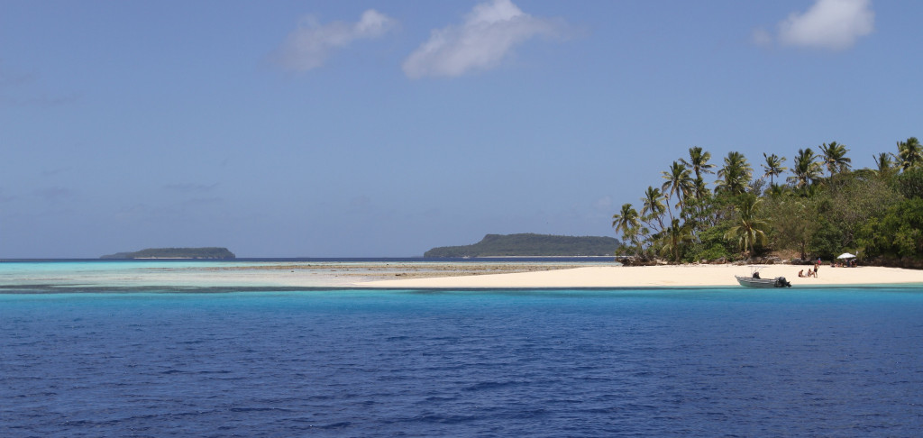 the stunning scenery of Nuku Island