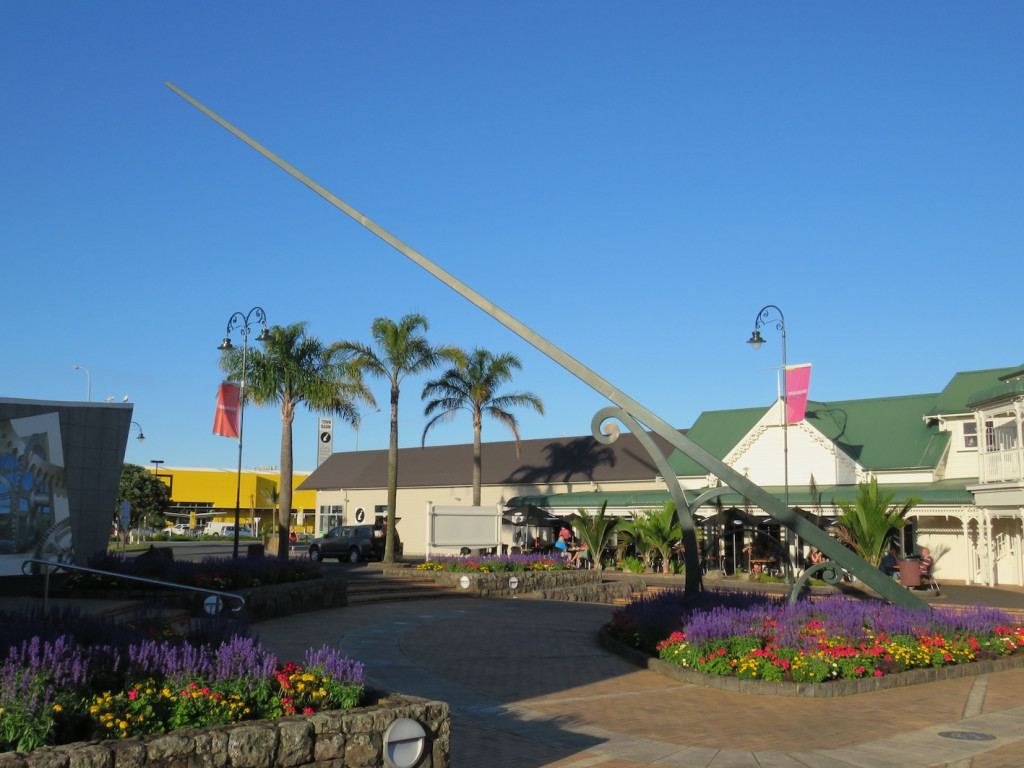 The sundial and flower gardens, Town Basin