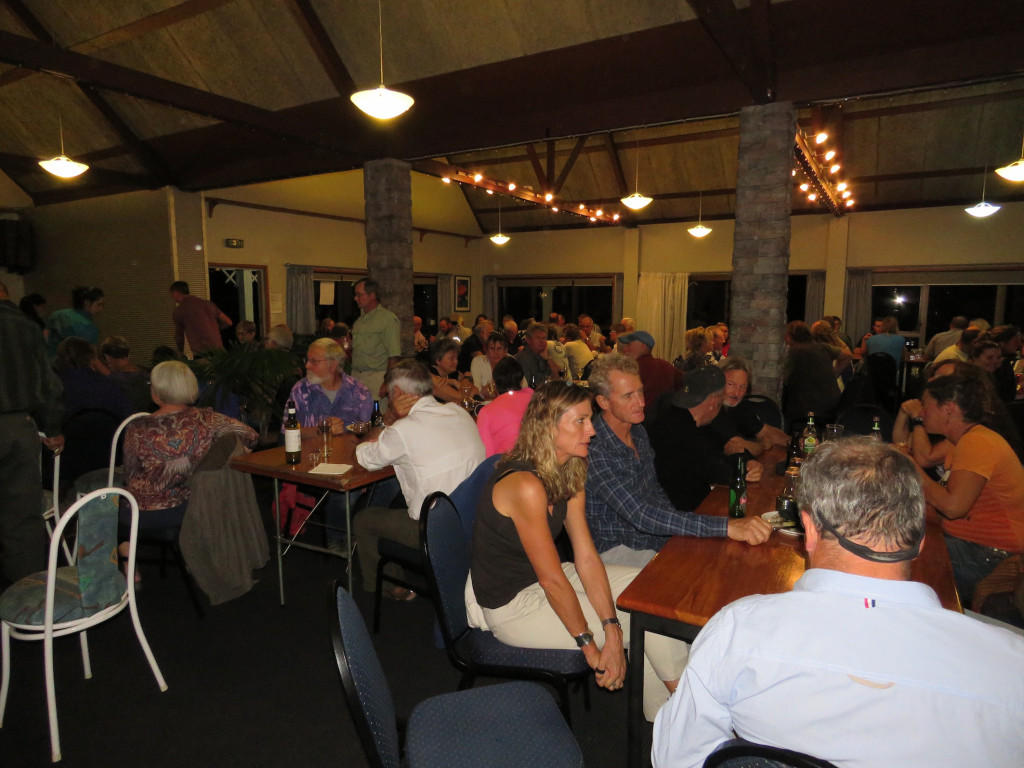 Cruisers and tradies mingling at the Whangarei Marine Services farewell dinner