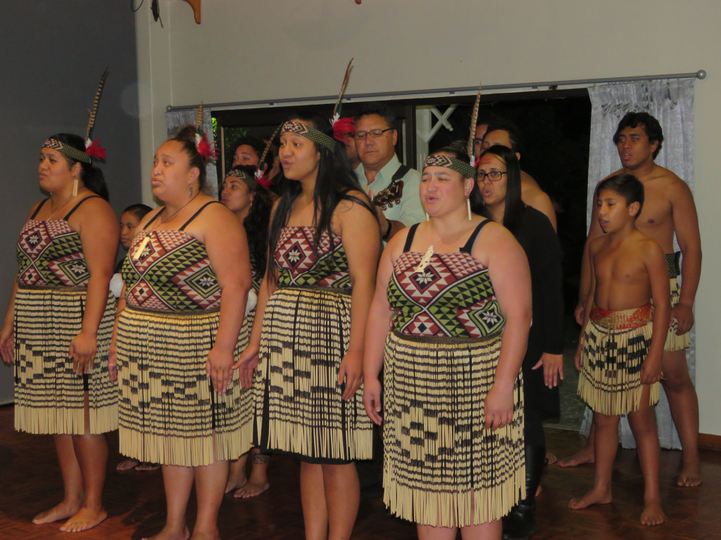 Beautiful singing from the local Kapa Haka group