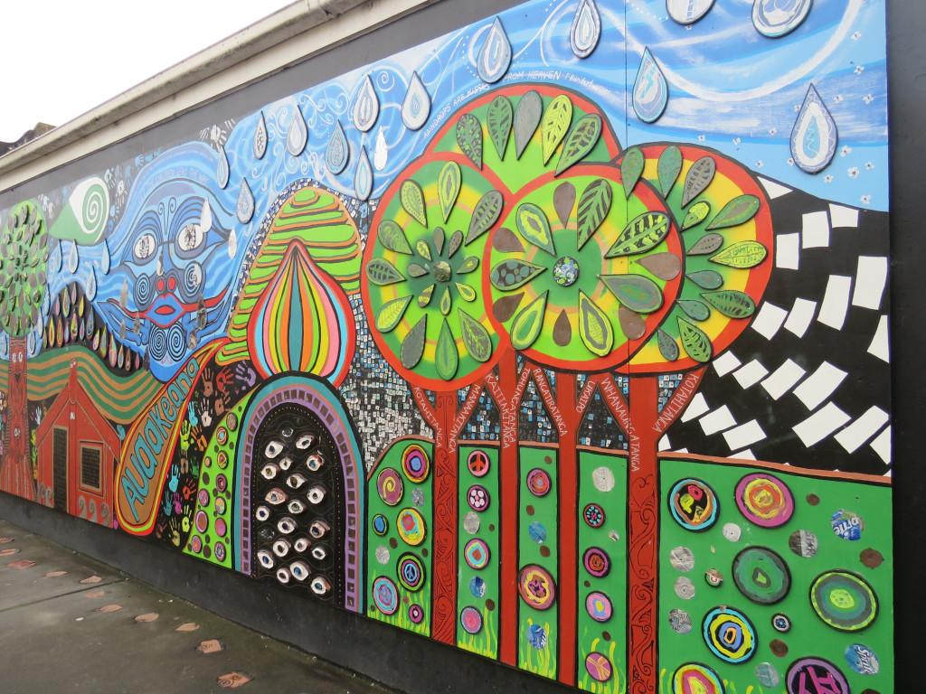 Across the street is a fabulous mural