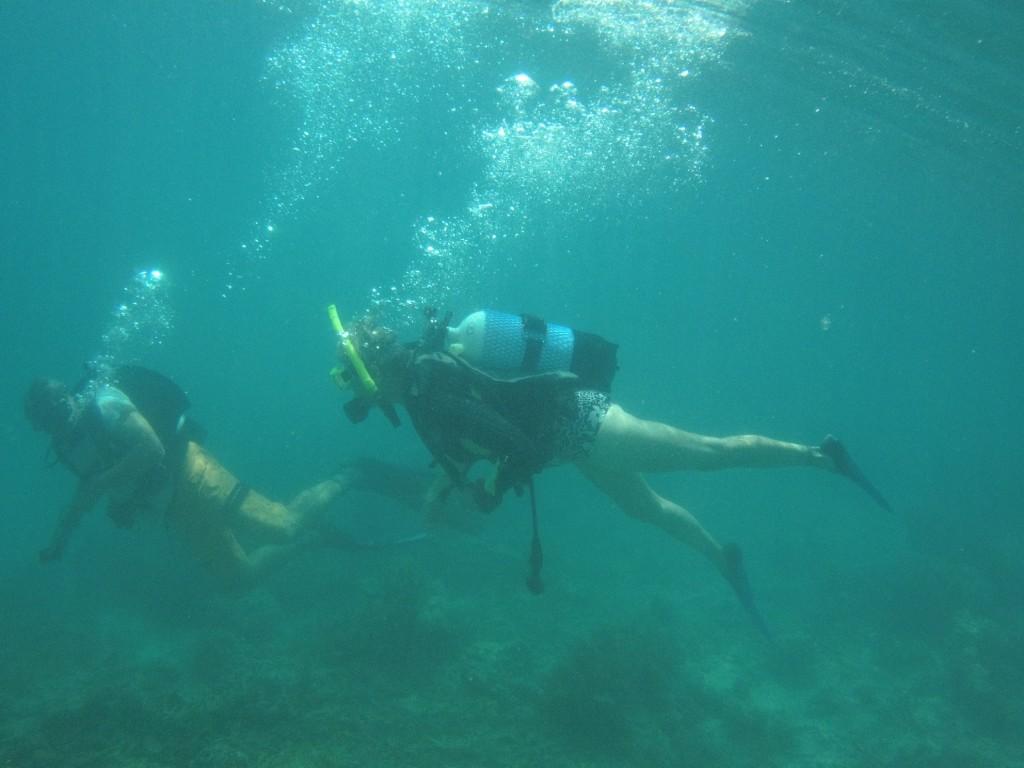 Marce and Bruce on scuba