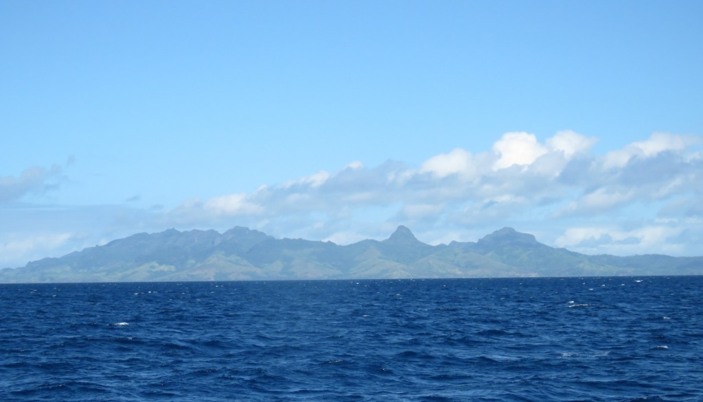 Viti Levu Island on the horizon